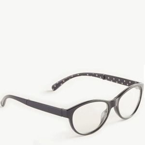 Ann Taylor Navy Dotted Foldable Reading Glasses